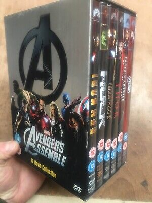 Marvel Avengers Assemble 6 Movie Collection(6xDVD R2)Iron Man Thor Hulk Captain