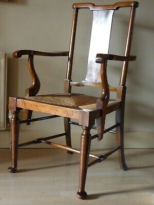 William Morris Richard Norman Shaw mahogany armchair 'Hampton Court '