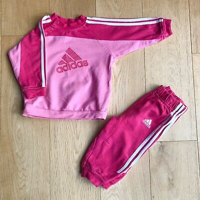 ADIDAS *3-6m BABY GIRLS Full TRACKSUIT Outfit JOGGERS Sport Wear 3-6 MONTHS