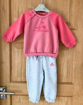 ADIDAS *9-12m BABY GIRLS Full TRACKSUIT Outfit JOGGERS Sport Wear 9-12 MONTHS