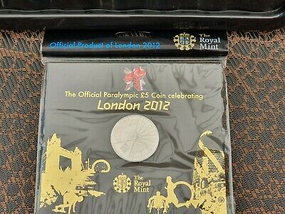 Royal Mint 2012 London Paralympics £5 Five Pound Coin Sealed Pack