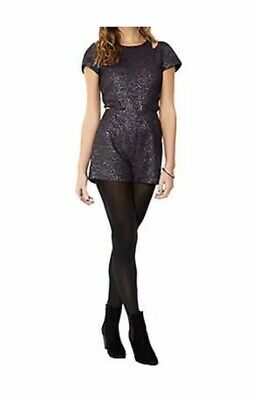 Monsoon Fusion BNWT Purple Sparkly Cut Out Playsuit Size 14 RRP £49