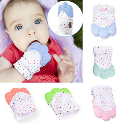 Baby Silicone Mitts Teething Mitten Teething Glove Safe Wrapper Soft Teether Toy