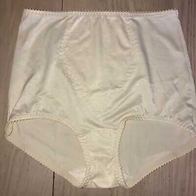 NOS Vintage BALI Something Else Shaping Brief Panty 8700 Ivory Light support XL