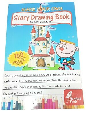 A4 Story Drawing Book White Paper Book 160 sheets kids gift toys activity art
