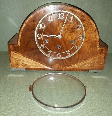 Stunning Vintage Art Deco Perivale Multi Chiming Wooden Mantel Clock
