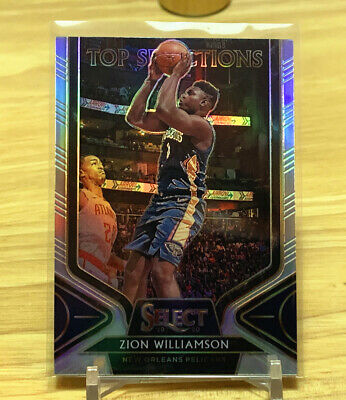 2019-20 Panini Select Zion Williamson Top Selections Sliver Prizm SSP RC Rookie