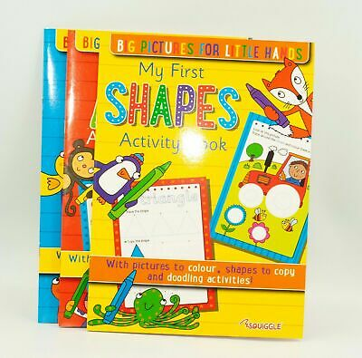 Kids A4 Learn To Write My First Shapes, ABCs and 123s Activity Book Fun Learning