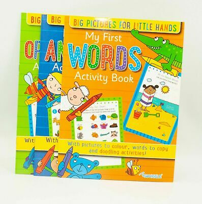 Kids A4 Learn To Write My First Opposites, Words & Animals Activity Book