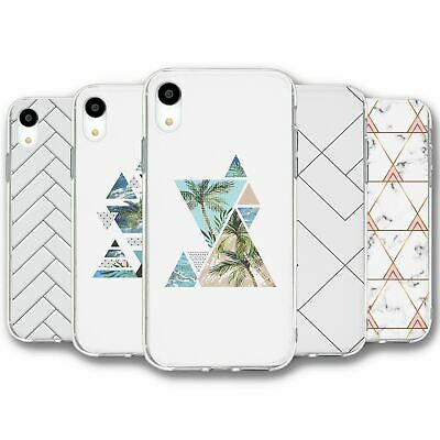 For iPhone XR Silicone Case Cover Geometric Collection 9