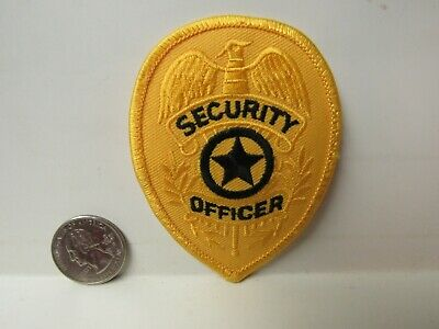 Vtg. Security Officer Gold Embroidered Patch