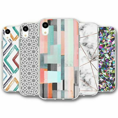 For iPhone XR Silicone Case Cover Geometric Collection 20