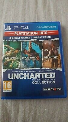 Uncharted The Nathan Drake Collection PS4 (3 games in one - Uncharted 1 , 2, 3)