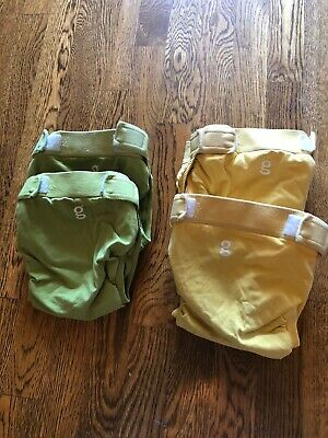 Four GUC gDiapers XL Diaper Covers