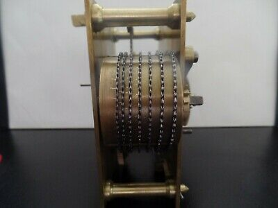 Vintage Chain Fusee Clock Movement, Belive To Be In Working Order