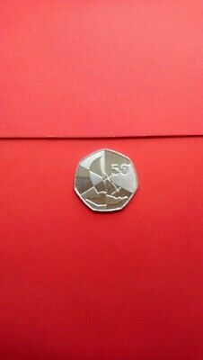 2019 GIBRALTAR 50p Coin Island Games Uncirculated Condition.