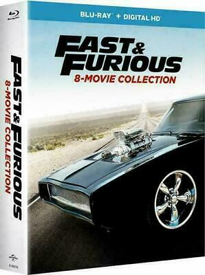 Fast and Furious 8-Movie Collection (Blu-ray + Digital , 9-Disc Set) - Free Ship