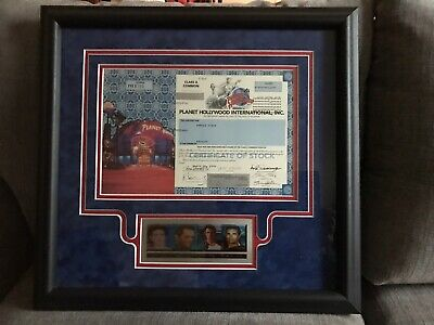 Planet Hollywood Stock Certificate