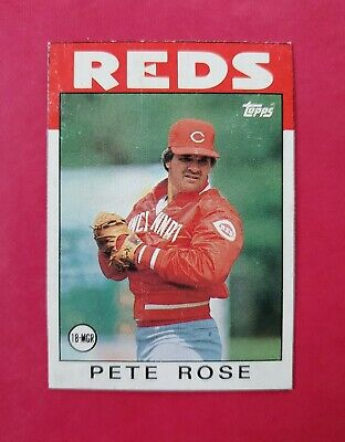 1986 Topps Box Panels #N PETE ROSE (NM) (Cincinnati REDS) *CENTERED* FREE SHIP!!