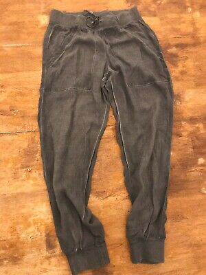 Cloth & Stone Distressed Joggers Casual Drawstring Grey Pants Xs