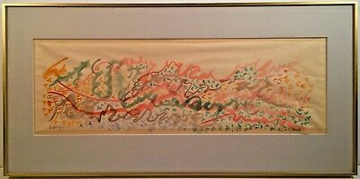Listed Artist Charles Lapicque (1898-1988) Signed Watercolor Painting Les Flots