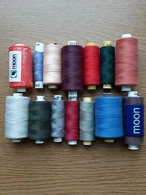 Coates Moon/Astra Spun Polyester Sylko Sewing Threads 14 Reels Pre Owned