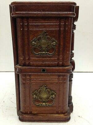 2 Vtg Singer Treadle Sewing Machine Drawers with Frame & Brass Pulls Repurpose