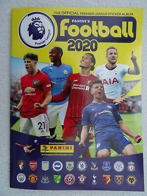Panini Official Football Premier League 2020 Sticker Album. 96 pages. Club Info.