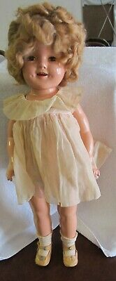 "Shirley Temple Ideal 20"" 1930's Composition Doll"