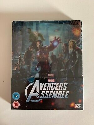 The Avengers - Assemble 2012 Zavvi UK New Sealed Bluray Lenticular Steelbook