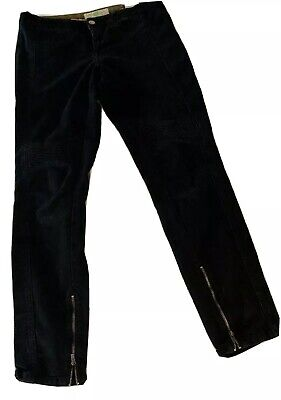 STELLA McCARTNEY  Black Skinny Jeans Size 29,  With Angle Zipper; Made In Italy