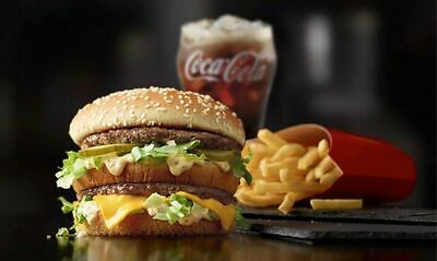 20 McDonalds Combo Meal Cards