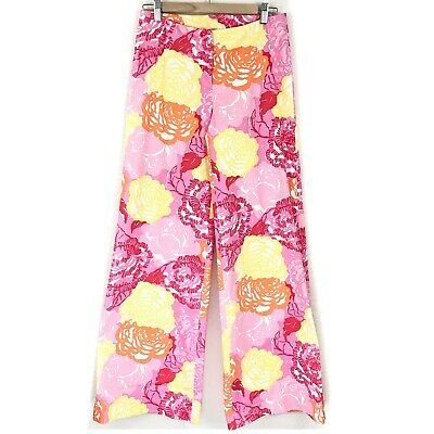 Vintage Lilly Pulitzer Wide Leg Flower Bomb Pants Mint Condition Size 2