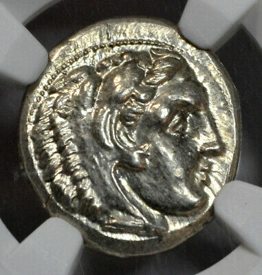 Alexander the Great Silver Drachm Lifetime of Sardis (336-323 BC) NGC MS 5/5 5/5