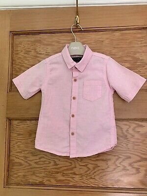 NEXT Baby Boy Pink Shirt Age 12-18 Months