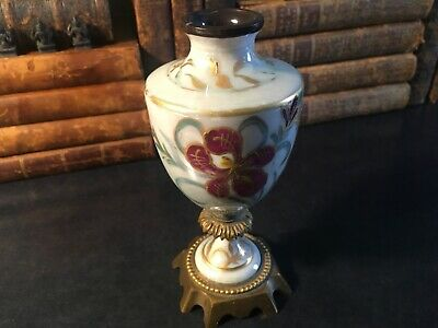 Antique Gilt Hand Painted Sevres  Porcelain and Bronze Pictorial Urn vase