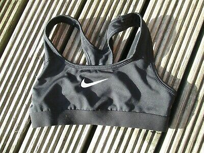 NIKE Girls Fitness Sports Black Cropped Top  Age 8-10 Years / Small