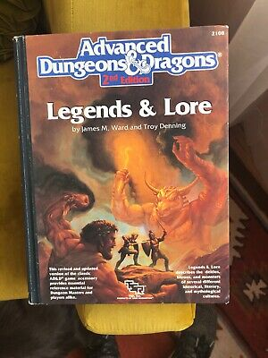 TSR Advanced Dungeons and Dragons 2nd Edition Legends and Lore 1990 Used