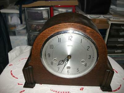 "Smiths ""Howard"" 8 Day Westminster Chiming Mantel Clock In Need Of Refurbishment."
