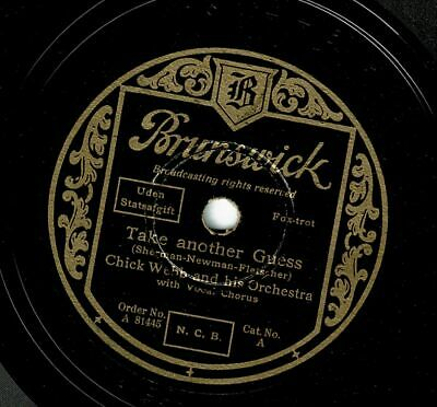 Chick Webb a.h. Orch.: Take another guess / Sweet sue-Just you