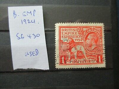 GB KGV 1924 SG430, 1d British Empire Exhibition Wembley Used
