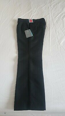 Boys Black Skinny Leg School Trousers Age 9 -10 From Marks And Spencer Brand New