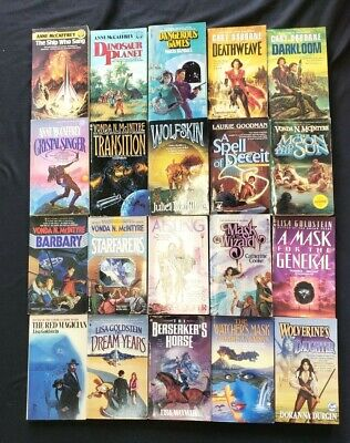 Lot #1  20 SF Fantasy paperbacks Women Authors  McIntyre McCAFFREY Osborne MORE!