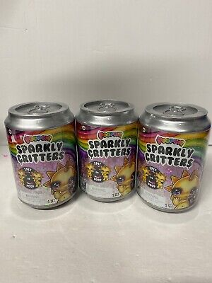 Poopsie Sparkly Critters Can Lot Of 3 Magically Poop or Spit Slim Sealed