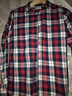 Zara Boys 13-14 Yrs Check Shirt Red /blue Multi Coloured Excellent Condition
