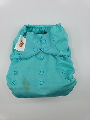 Bumgenius One Size OS Cloth Diaper Flip Cover - Mirror blue/teal