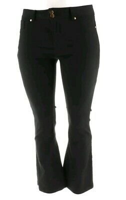 IMAN Luxury Denim Perfect Fit Jean Pockets Straight Leg JET BLACK size 16 short