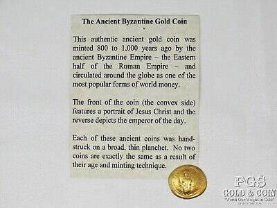 Ancient Byzantine Empire GOLD Coin 4.3 grams 800-1000 years old! 16357