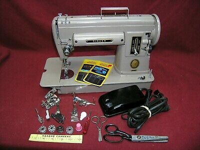 1954 Singer 301A Slant Sewing Machine w/Pedal/Attachments