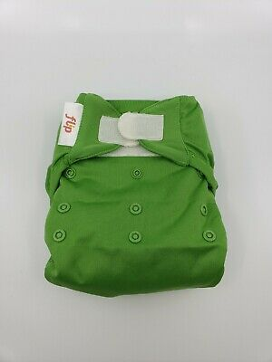 Bumgenius One Size OS Cloth Diaper Flip velcro cover - Ribbit Green